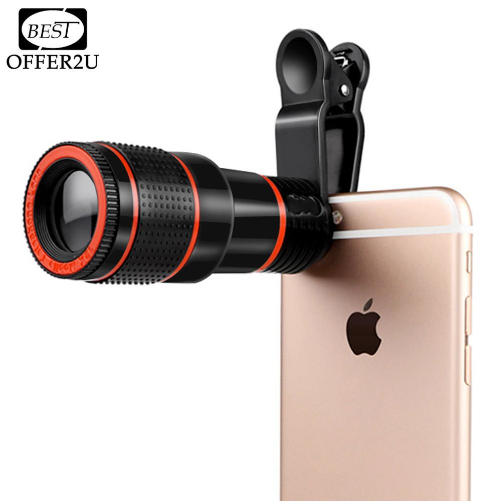 Hd mobile phone telephoto lens 12x zoom optical telescope for Fenetre zoom iphone x